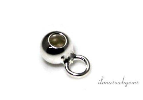 Sterling zilveren kraal met oog 4mm