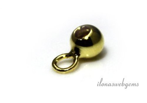 Vermeil bead 4mm with eye and hole