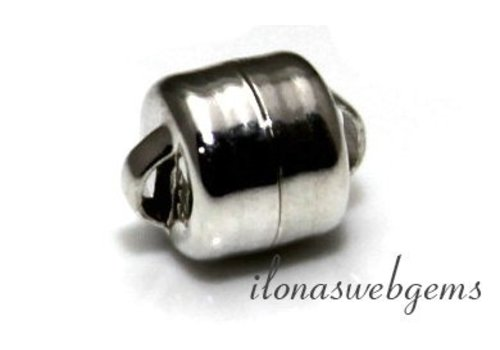 Sterling silver magnet clasp approx. 6mm