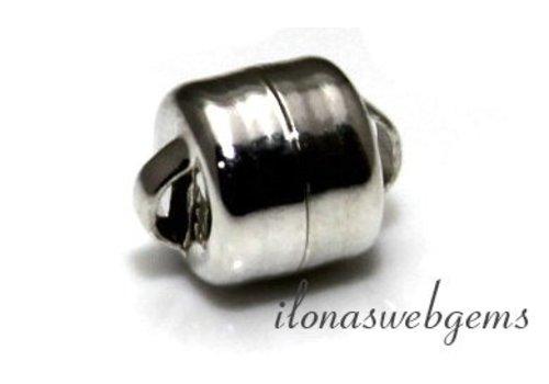 Sterling zilveren magneetslotje ca. 6mm