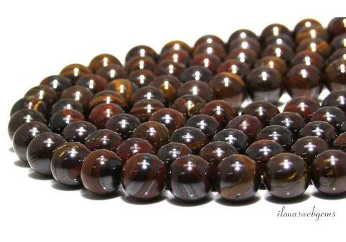 Tiger iron beads around 12mm A quality