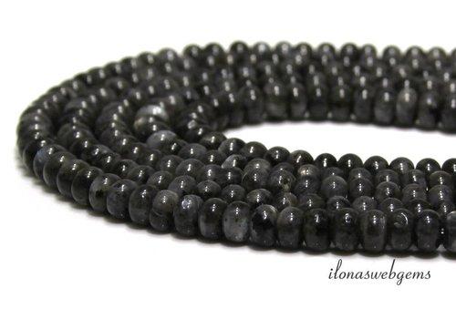 Larvikite beads ca. 6.5x4mm