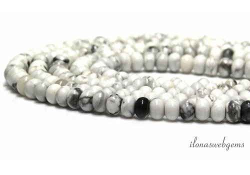 Howlite beads ca. 7x4.5mm