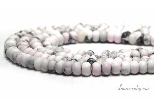 Howlite beads  ca. 7x4.5mm