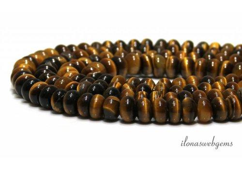 Tigereye perlen ca. 6.5x4mm