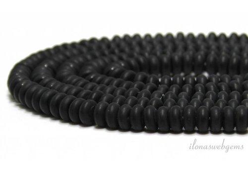 Onyx beads 8x4mm