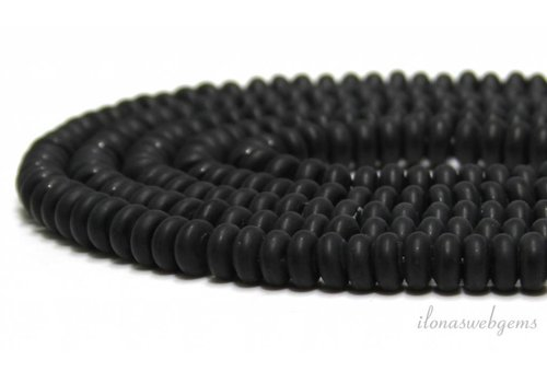 Onyx beads roundels mat about 8x5mm