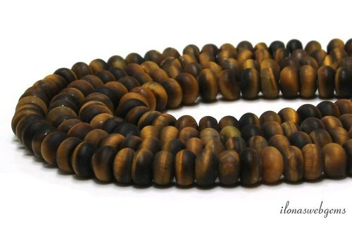 Tiger eye beads ca. ca. 8x5mm