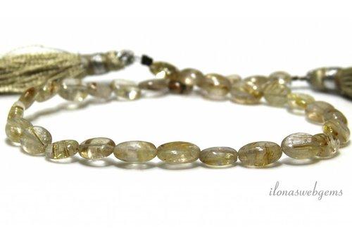 Golden Rutile quartz beads about 8x6mm