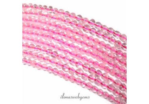 Rose quartz beads around mini about 2mm