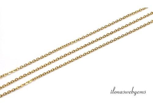 1cm 14k/20 Gold filled schakels / ketting ca. 1.6mm