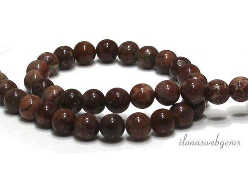 Pomergyanite Jaspis beads around 8mm