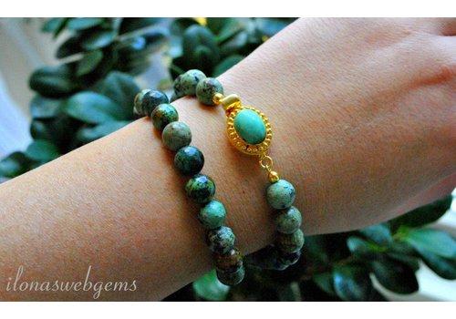 Inspiratie: Turkoois armband met bakslotje