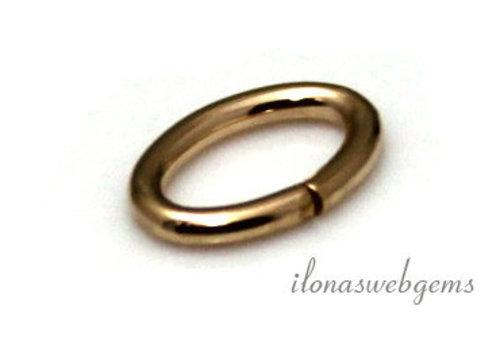 Gold filled lock in oogje ovaal ca. 7,5x4,8x0,8mm