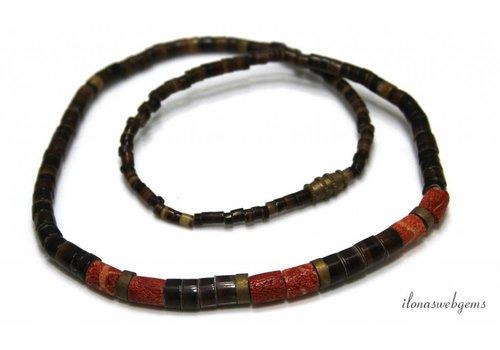 Vintage Perlen und Korallen? ca. 43cm