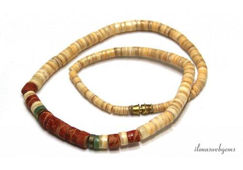 Vintage beads Coral ca, 42cm