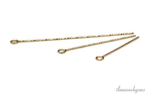14k/20 Gold filled kettelstift ca. 19X0.5mm