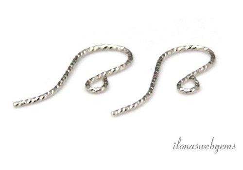 1 paar Sterling zilveren oorhaakjes ca. 19.mm