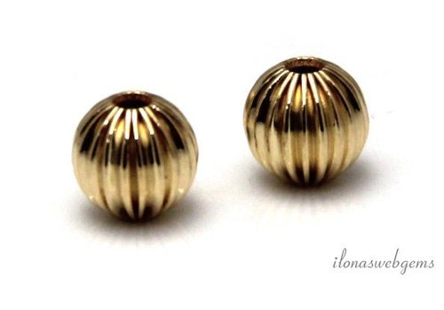 Gold filled bead approx. 8mm