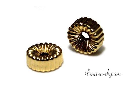 14k / 20 Gold, das gefülltes Rondell etwa 6 mm