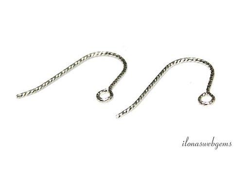 1 paar Sterling zilveren oorhaakjes ca. 19mm