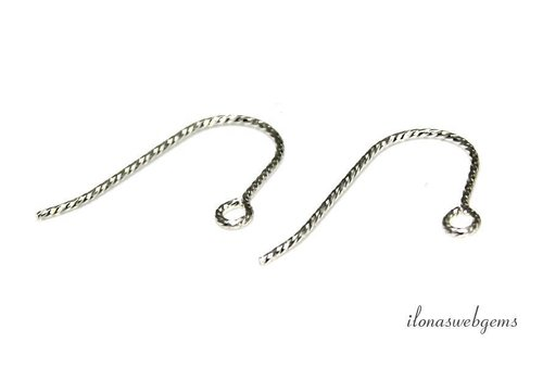 1 pair of Sterling silver earhooks approx. 19mm
