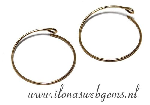 1 pair 14k / 20 Goldfilled creoles