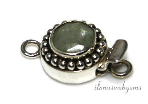 Sterling zilveren bakslotje met  ca. 15.5mm