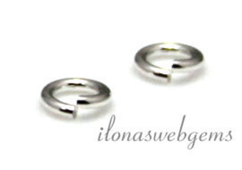 10 x Sterling zilveren oogje open ca. 4x0.5mm