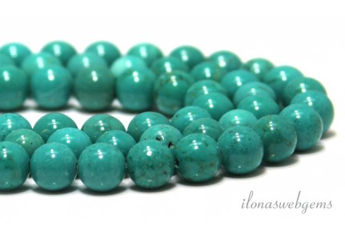 Howlite beads turquoise around approx. 8mm