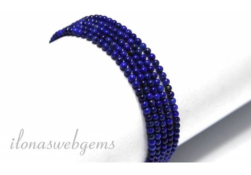 Lapis Lazuli beads round AA quality approx. 2mm