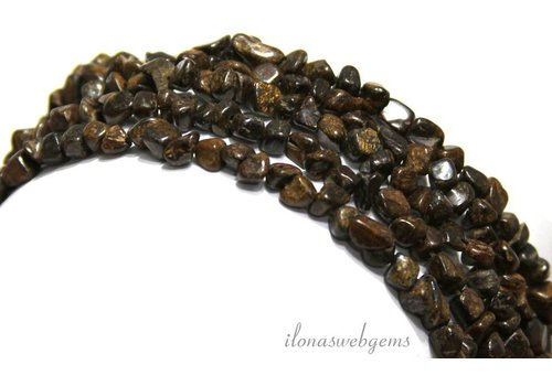 Bronzite beads nuggts approx. 4mm