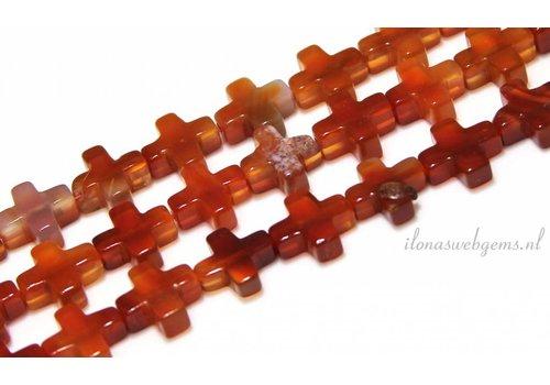 Carnelian - Carnelian beads approx. 12x4mm