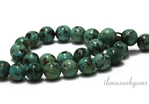 African Turquoise beads around 8mm