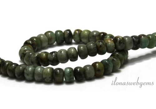 African Turquoise Perlen roundel um 6x4mm