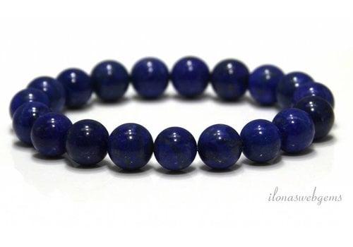 Lapis lazuli beads (bracelet) AA quality approx. 10mm