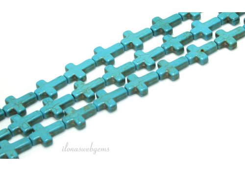 Howlite crosses approx. 16x12x4mm