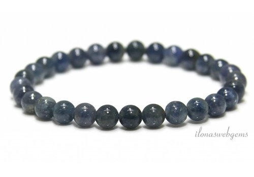 Sapphire beads (bracelet) around 7mm