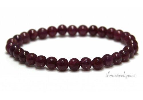 Ruby beads (bracelet) approx. 6mm