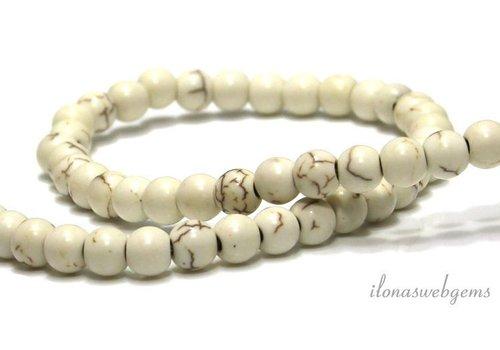 Howlite beads around 6mm