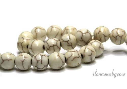 Howlite beads around 8mm