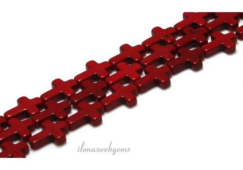 Howlite crosses approx. 16x12x4mm