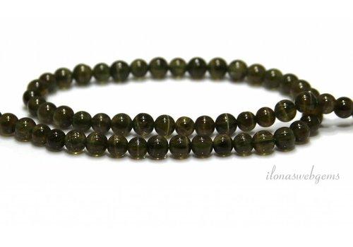 Apatit Perlen rund grün A Klasse ca. 5mm