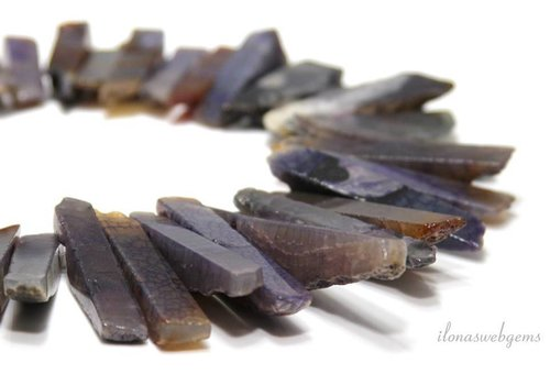 Agaat kralen vanside drill ca. 70 tot 33mm