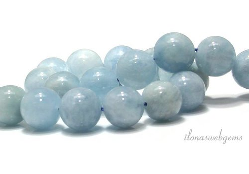 Aquamarine beads around 14mm