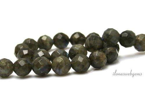 Labradorite beads facet around 8mm