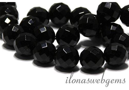 Onyx Perlen große Facette ca. 18mm