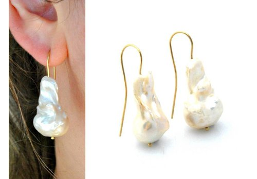 Inspiration: Ohrringe aus barocken Perlen