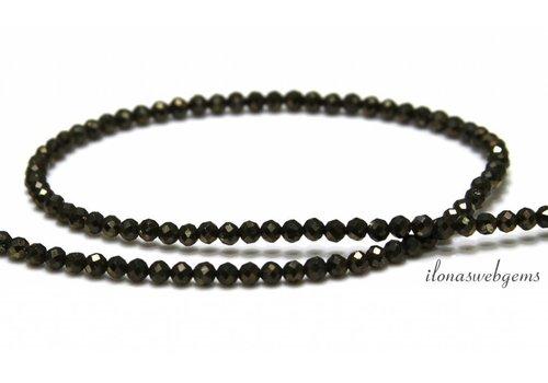 Pyrite beads facet around 3mm