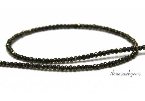 Pyrite beads facet roundel around 3x2mm